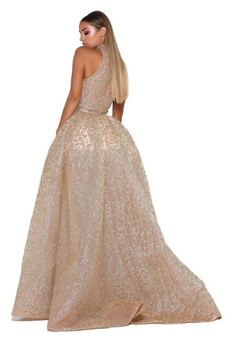 Style 1702 Gown in Gold by Portia & Scarlett