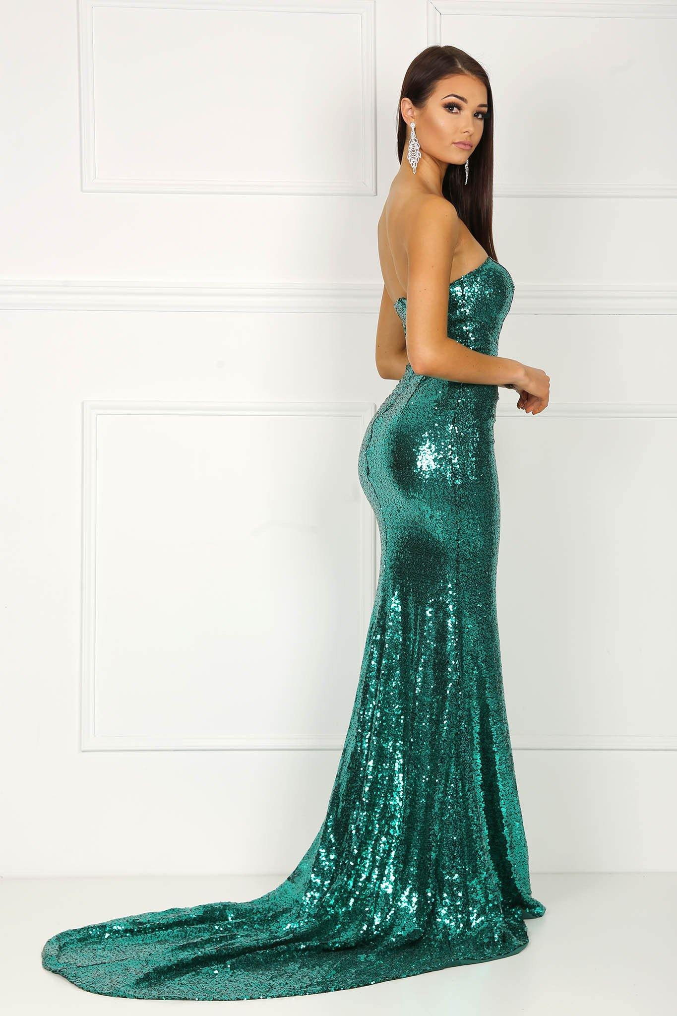 Angelisa Gown - Emerald Green – Noodz Boutique