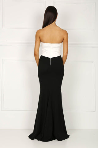 Pearl Colour Block Gown (Size 16/XXL - Clearance Sale)