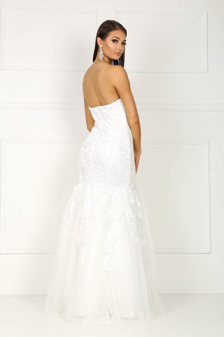Arabella Mermaid Wedding Gown - White