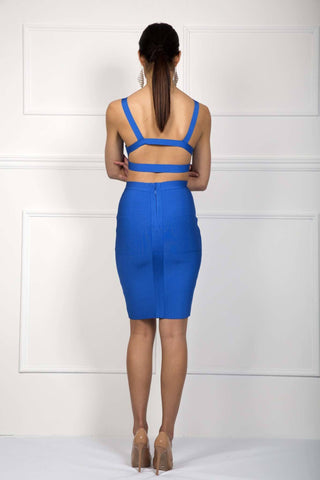 Ariana Two-Piece Dress in Royal Blue