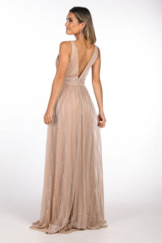 ANIYA A-Line Gown in Shimmer Gold