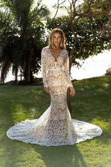 Athena Long Sleeve Gown