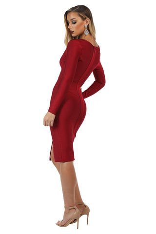 Adele Dress - Wine Red