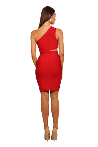 Adriana Dress in Red