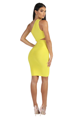 Adriana Dress in Yellow
