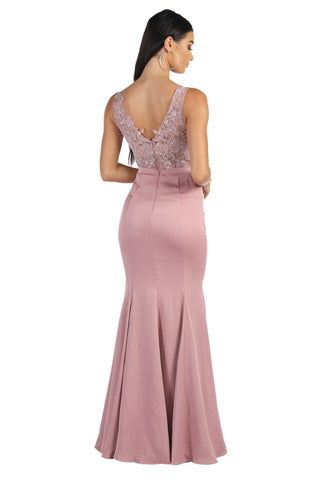 Alisha Lace Maxi Dress - Dusty Pink