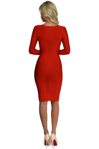 Amelia Dress in Red