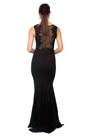 Amour Gown - Black/Black