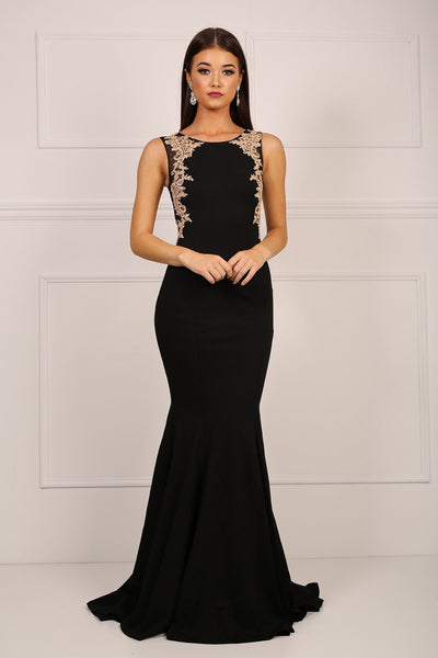 Amour Dress - Black/Beige