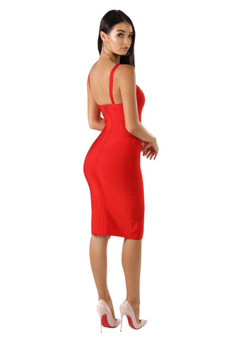 Angeline Dress in Red