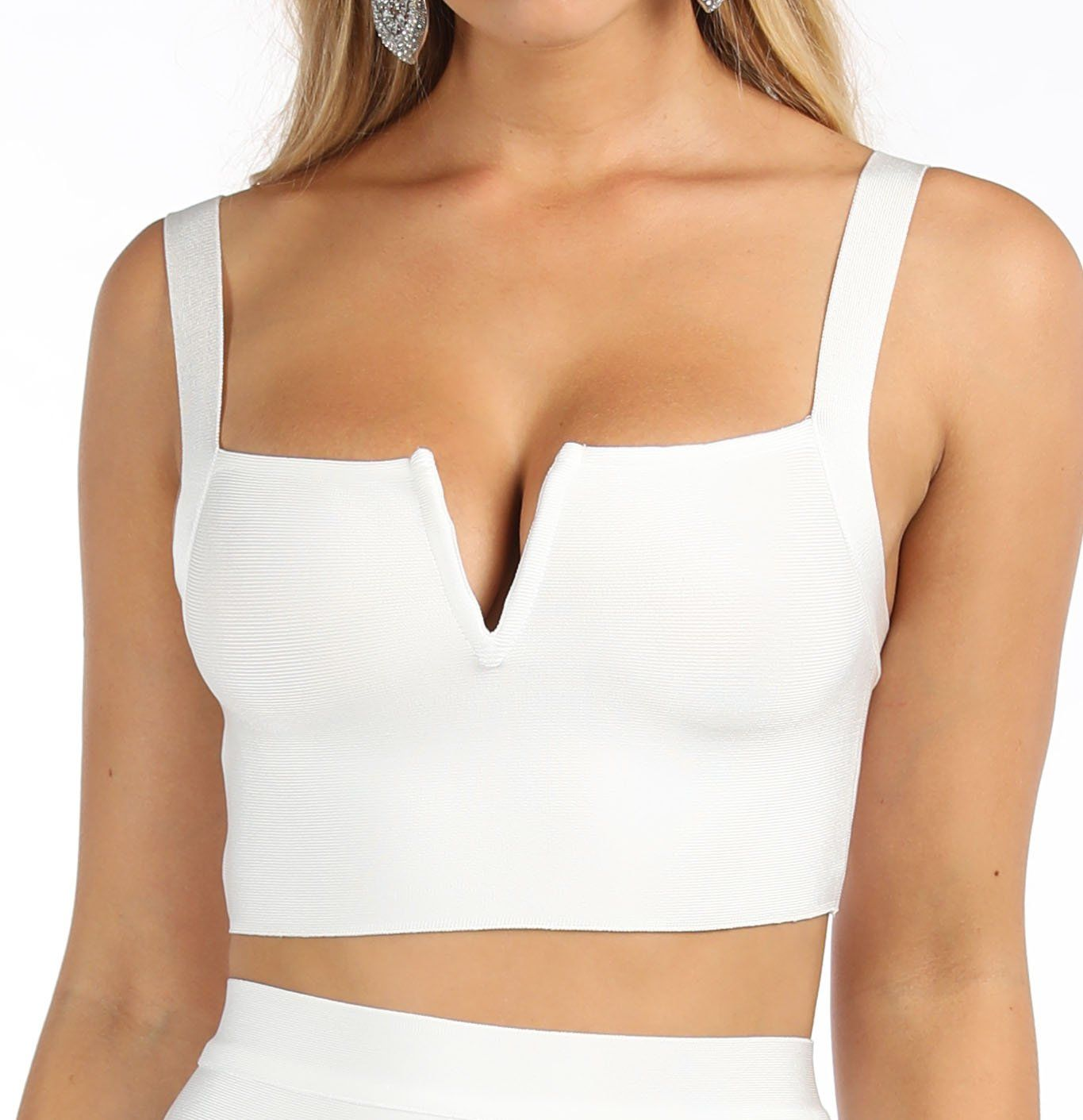 Angeline Bandage Crop Top - White