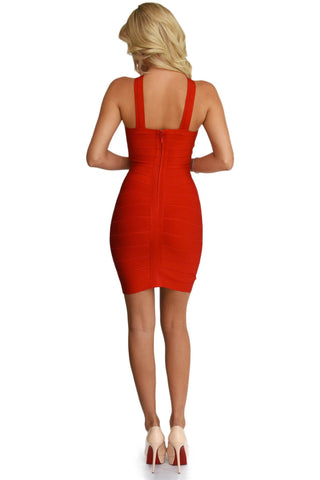 Anna Two-Way Dress in Red
