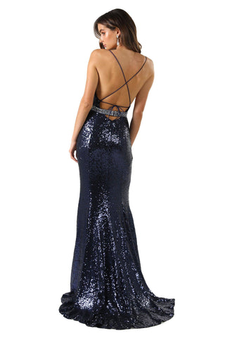 Aphrodite Gown - Navy