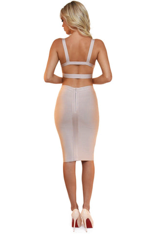 Ariana Two-Piece Dress in Nude