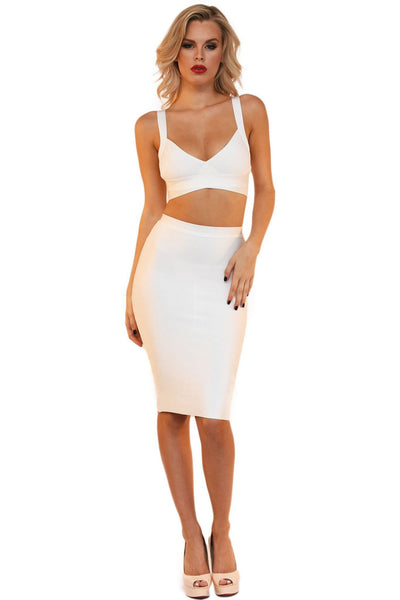 Ariana Two-Piece Dress in White