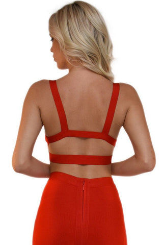 Ariana Bandage Bralette Top - Red