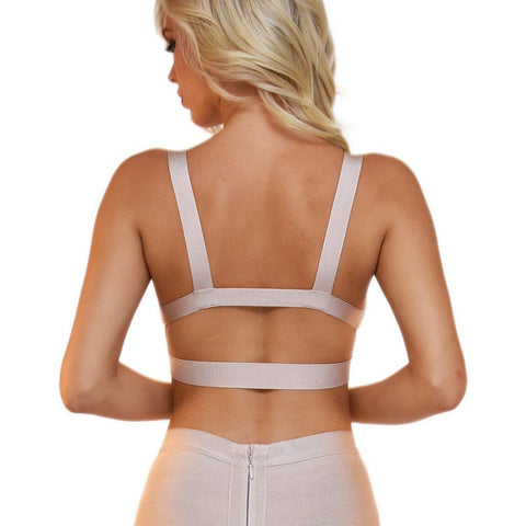 Ariana Bandage Bralette Top - Nude