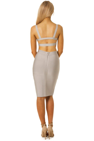 Ariana Two-Piece Dress in Grey