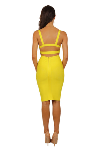 Ariana Two-Piece Dress in Yellow