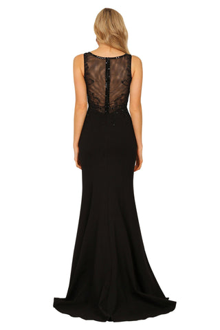 Aubrey Beaded Gown - Black