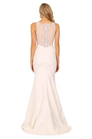 Aubrey Beaded Gown - White