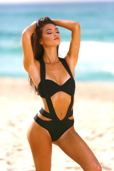 Barbados One Piece Swimsuit - Black