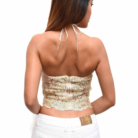 Belle Lace Top - Gold
