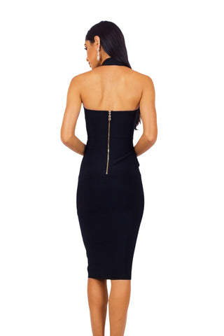 Beverly Halter Dress - Black