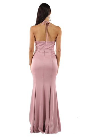 Cecilia Draped Top Maxi Dress - Blush Pink