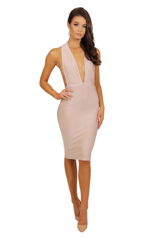 Candice Dress - Nude