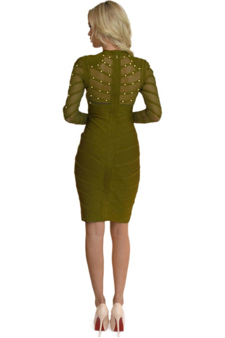 Carmen Dress in Olive