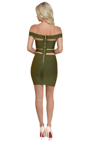 Cassie Dress in Olive
