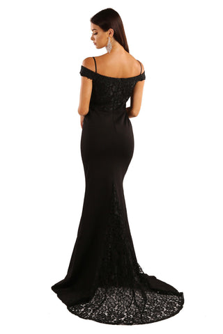 Charlot Lace Gown - Black