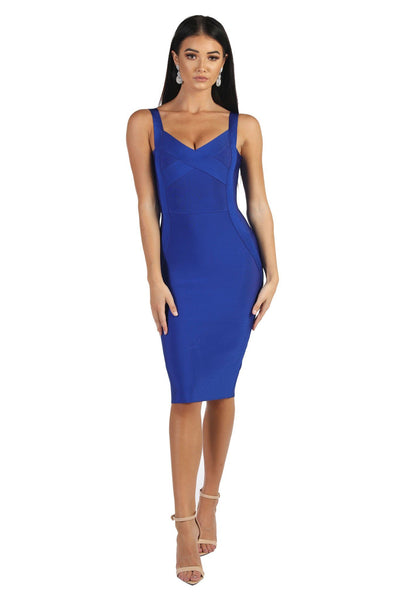 Colette Midi Bandage Dress - Blue