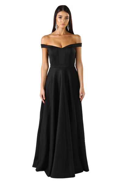 Daniela Off-Shoulder Gown - Black