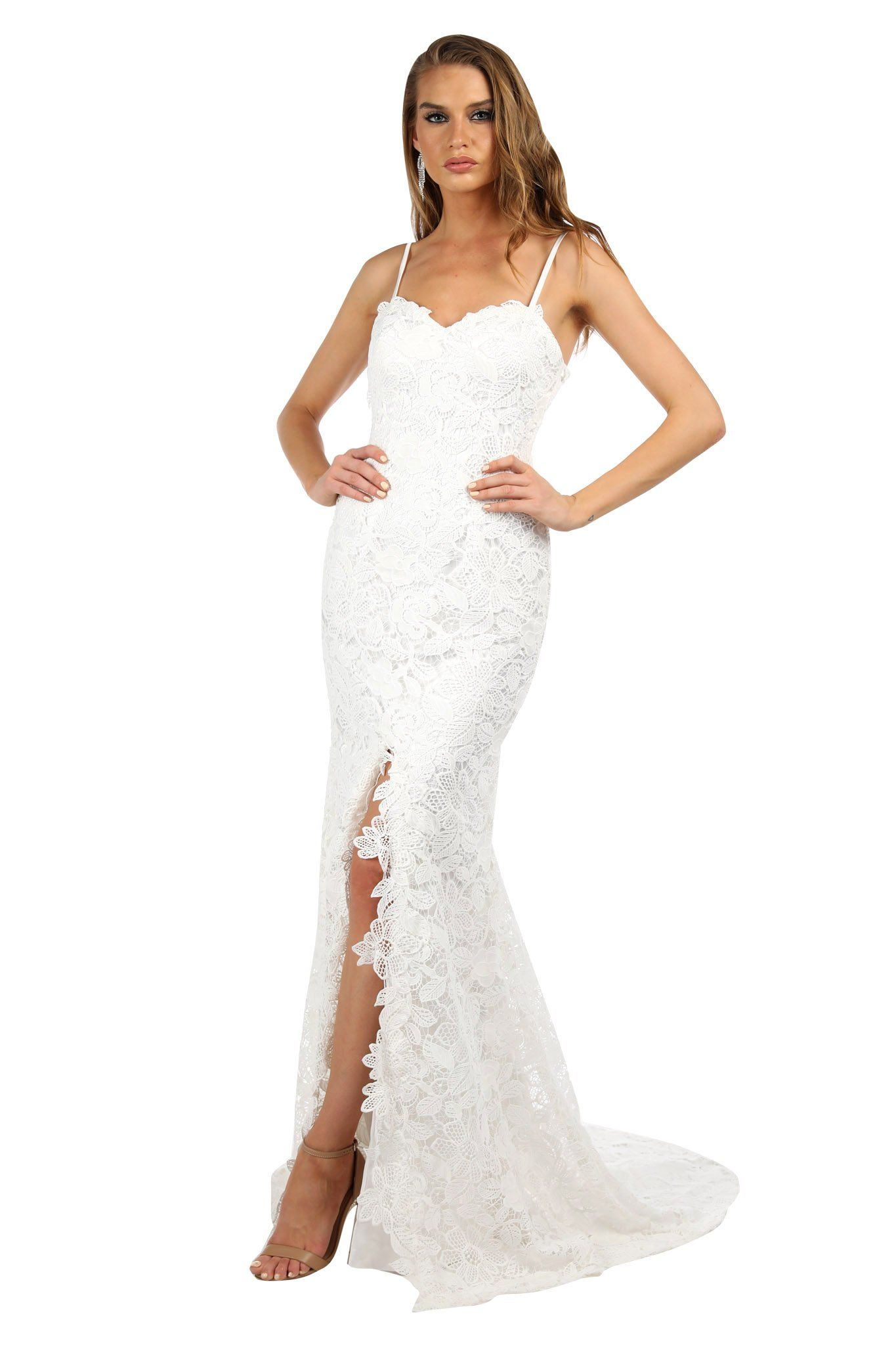Eden Lace Gown - White