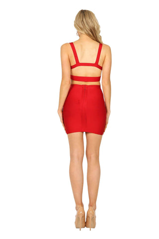 Eliza Two-Piece Set - Red