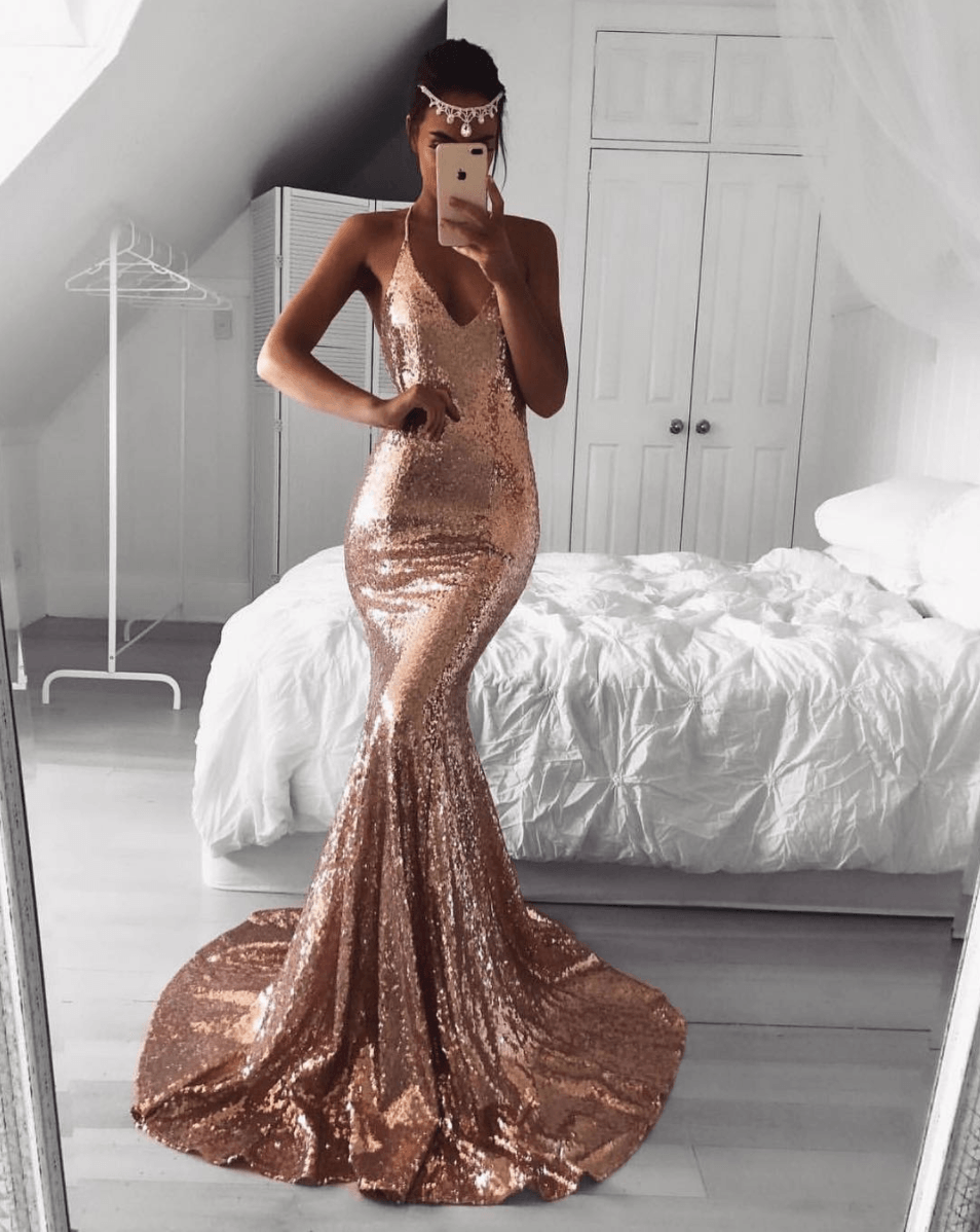 7c49fb83966 Rose Gold Bridesmaid Dresses Amazon