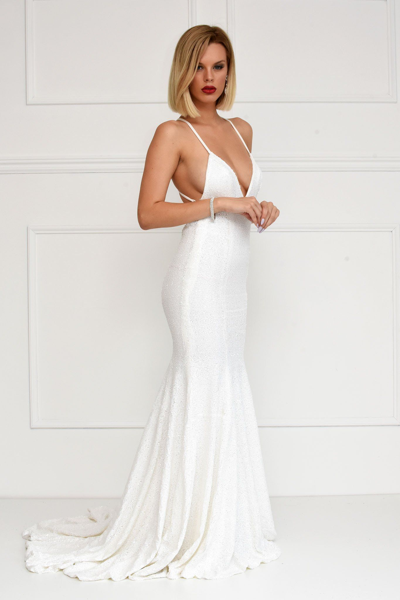 Estelle Gown - White – Noodz Boutique