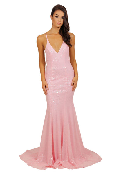 Estelle Gown - Cotton Candy Pink