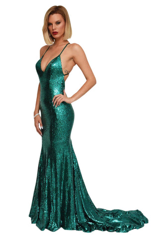 Estelle Gown - Emerald Green