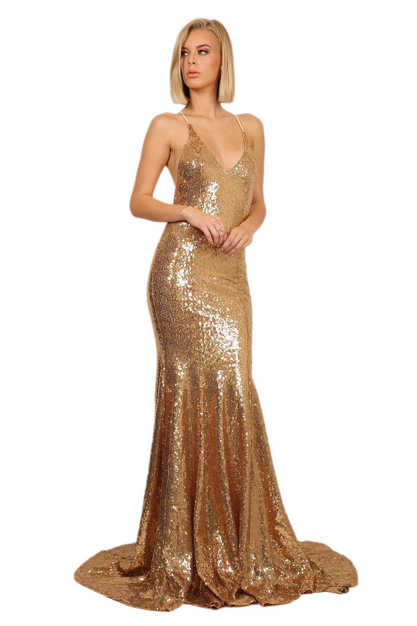 Estelle Gown - Gold – Noodz Boutique