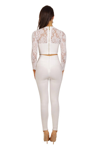 Florence Pants Set - White