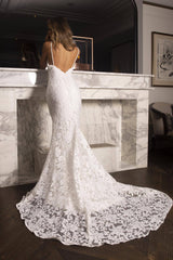 Florentina Lace Gown - White