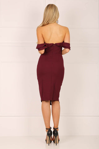 Amira Dress - Burgundy