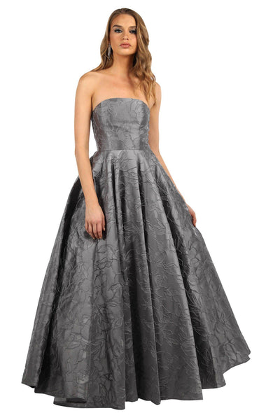 Gloria Strapless Ball Gown - Grey (Size XS - Clearance Sale)