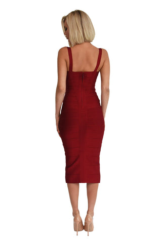 Hannah Dress - Wine Red