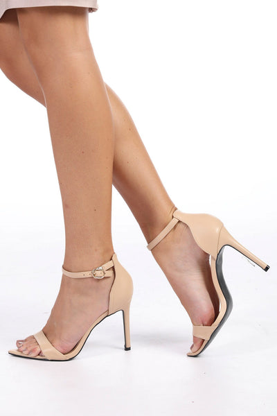 High Heel Sandals - Nude