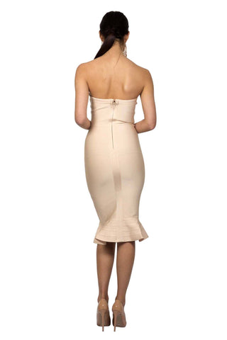 Helena Dress - Nude (Size L - Clearance Sale)